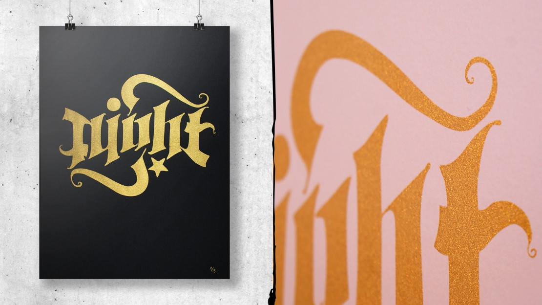 lettering-screenprint-night