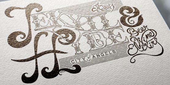 Ambigram Screen print – Licht